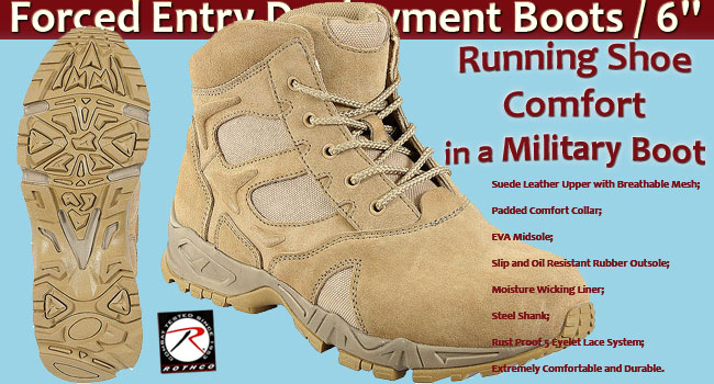 Forced Entry Deployment Boots / 6'' - Desert Tan