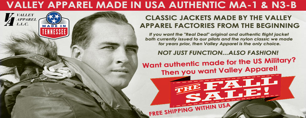 Valley Apparel. Official US Military Manufacturer.