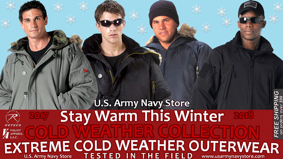 Cold Weather Collection: N-3B, N-3B Vintage & M-51 Parkas, N-2B & Soft Shell Jackets...