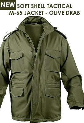 SOFT SHELL TACTICAL M-65 JACKET - OLIVE DRAB