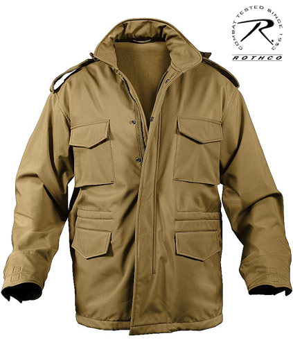 SOFT SHELL TACTICAL M-65 JACKET - COYOTE
