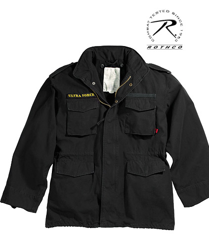 ULTRA FORCE BLACK VINTAGE M-65 JACKET