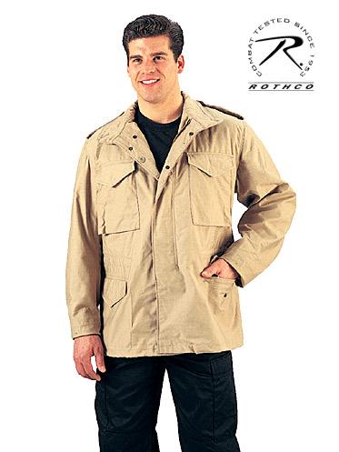 Khaki Military Style M 65 Field Jacket 8254 Size Large